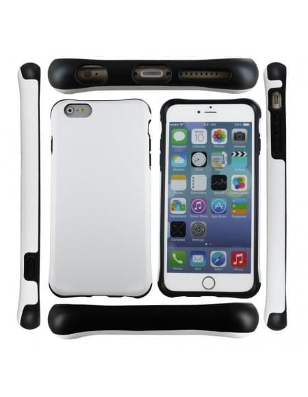 UreParts Shockproof - Hard Cover/ Case/ Schutzhülle - Apple iPhone 6 Plus, 6s Plus - Schwarz/Weiss