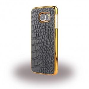 UreParts - Kroko Leder Hardcover / Hardcase / Handy Hülle - Samsung G925F Galaxy S6 Edge - Dunkel Braun