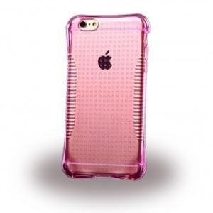 UreParts - TPU Cover / Case / Schutzhülle - Apple iPhone 6, 6s - Transparent/ Pink