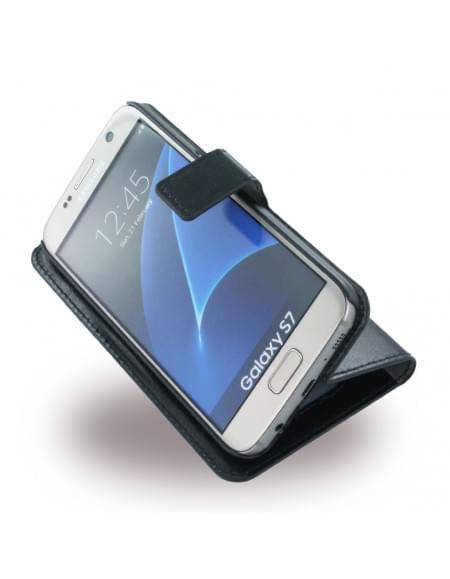 Uranus - Book Tasche / Hülle / Case - Samsung G930F Galaxy S7 - Schwarz