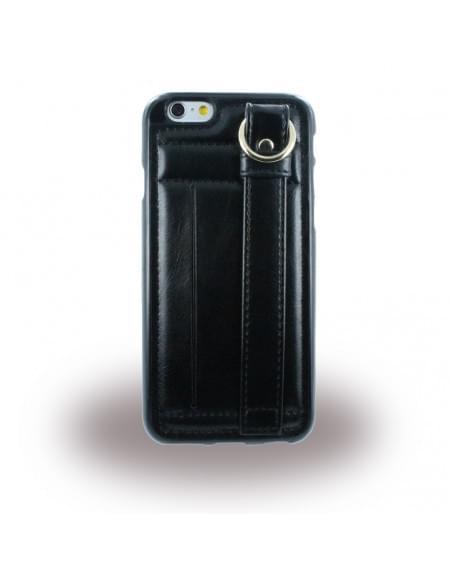 UreParts - TPU Cover/ Case/ Schutzhülle mit Leder - Apple iPhone 6 Plus, 6s Plus - Schwarz