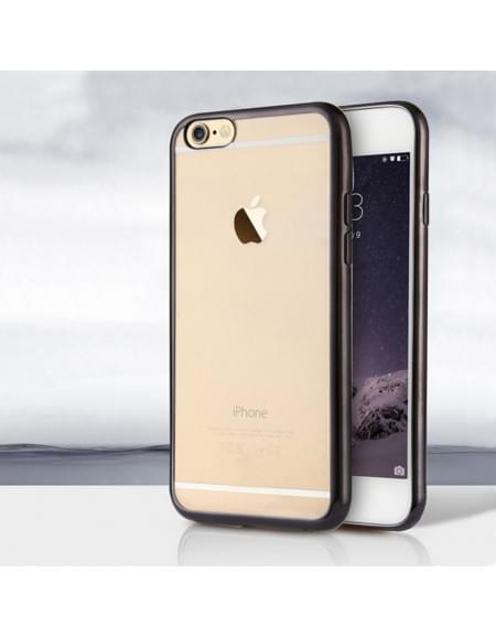UreParts - Electroplating TPU Cover/ Case/ Schutzhülle - Apple iPhone 6 Plus, 6s Plus - Schwarz