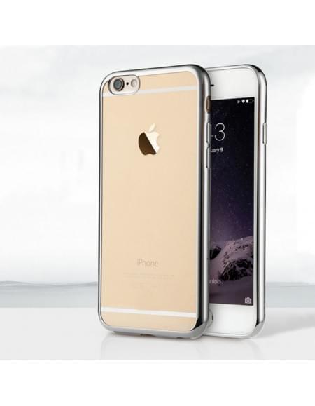UreParts - Electroplating TPU Cover/ Case/ Schutzhülle - Apple iPhone 6 Plus, 6s Plus - Silber
