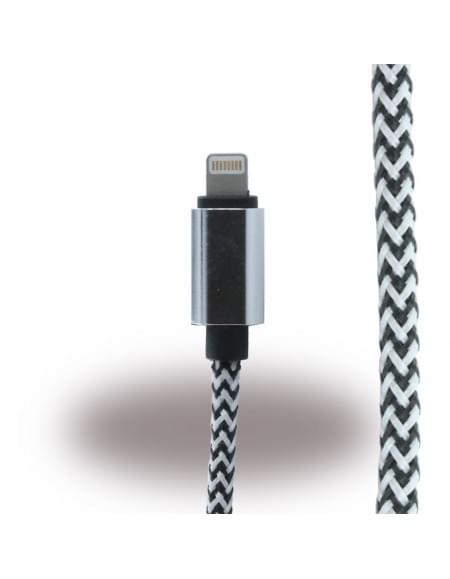 UreParts - Lightning auf USB Kabel -  iPhone 5, 6, 7 Plus - Schwarz/ Weiss