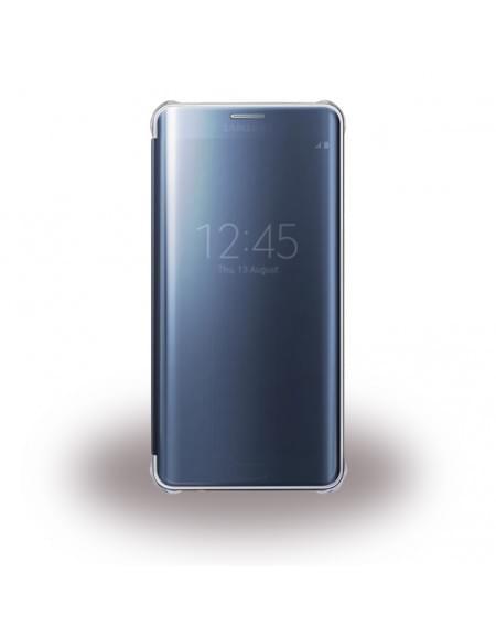 UreParts - Luxury Folio - Clear View - Book Cover / Handyhülle - Samsung G930F Galaxy S7 - Blau