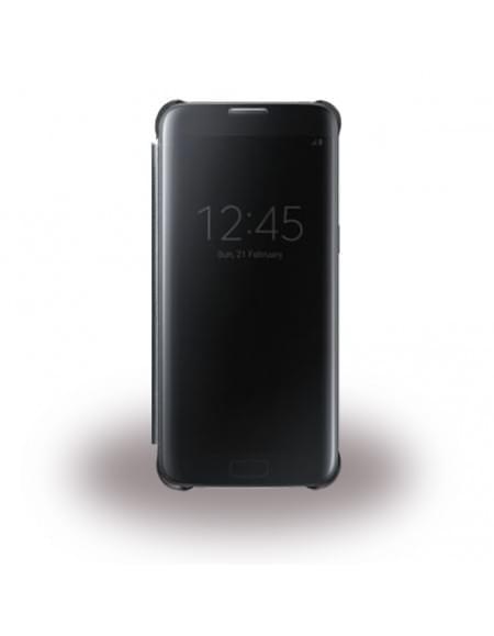 UreParts - Luxury Folio - Clear View - Book Cover / Handyhülle - Samsung G935F Galaxy S7 Edge - Schwarz