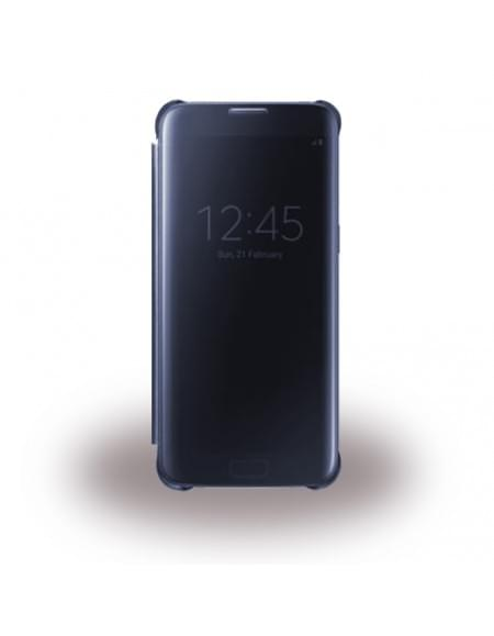 UreParts - Luxury Folio - Clear View - Book Cover / Handyhülle - Samsung G935F Galaxy S7 Edge - Blau