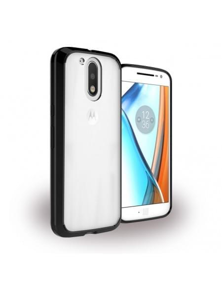 UreParts - Acrylic Case - Hardcover mit Bumper - Motorola Moto G4, Moto G4 Plus - Schwarz