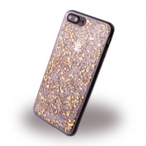 UreParts - Flakes Case - Silikon Hülle - Apple iPhone 8 Plus / 7 Plus - Gold