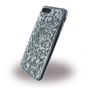 UreParts - Flakes Case - Silikon Hülle - Apple iPhone 8 Plus / 7 Plus - Silber