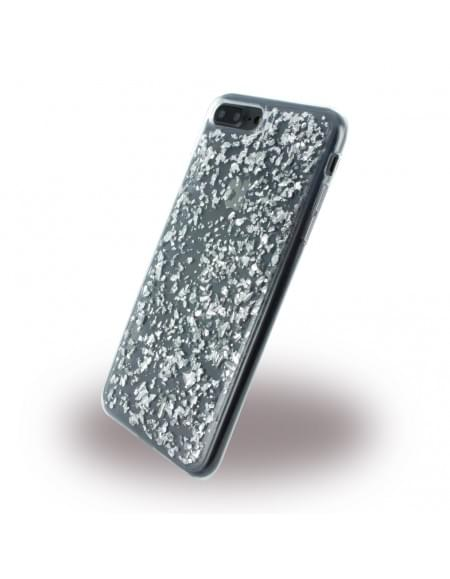 UreParts - Flakes Case - Silikon Hülle - Apple iPhone 7 Plus - Silber