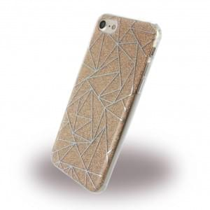 UreParts Tribal Case Silikon Cover / Schutzhülle iPhone 7 / 8 / 9 / SE 2 Gold