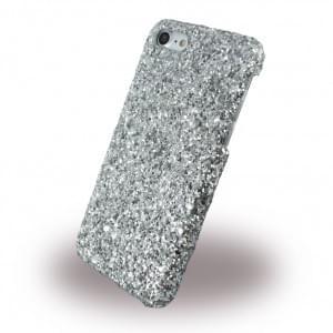 UreParts - Shiny Case / Glitzer Hardcase - Apple iPhone 7 - Silber