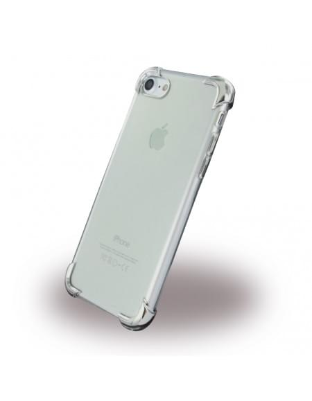 UreParts - Silver Corner Silikon Cover / Handyhülle - Apple iPhone 7 - Transparent Silber