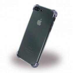 Black Corner Silikon Cover / Handyhülle iPhone 8 Plus / 7 Plus Transparent Schwarz