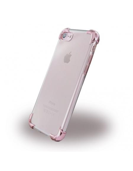 UreParts - Pink Corner Silikon Cover / Handyhülle - Apple iPhone 7 - Transparent Pink