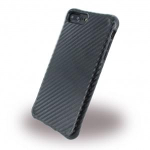 UreParts - Shockproof Carbon Case Schutzhülle Apple iPhone 8 Plus / 7 Plus Schwarz