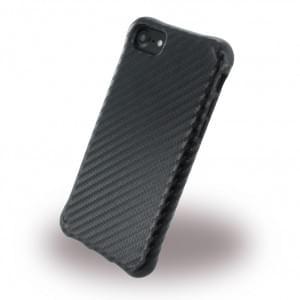 UreParts Shockproof Carbon Case / Schutzhülle iPhone 7 / 8 / 9 / SE 2 Schwarz