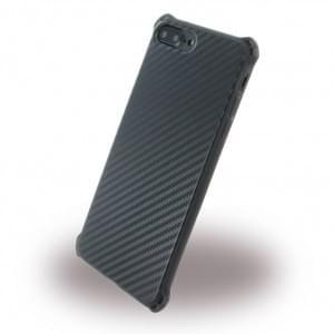 UreParts - Carbon Case / Hardcase - Apple iPhone 8 Plus / 7 Plus - Schwarz