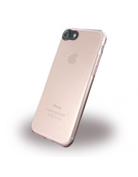 UreParts - Silikon Cover / Handyhülle - Apple iPhone 7 - Transparent Rose Gold