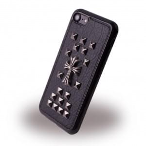 UreParts - Rock Spiky Cross Case - Silikon Cover / Schutzhülle - Apple iPhone 7 / 8 - Schwarz