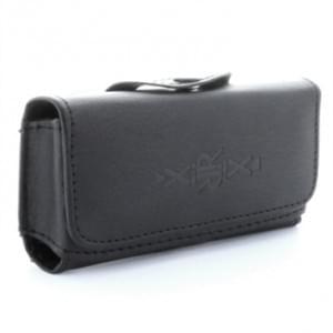 XiRRiX Horizontaltasche mit Gürtelclip + Schlaufe - Innenmaß: 111 x 52 x 13,5mm (S Long) - Schwarz