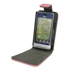 Flip-Style Kunstleder Tasche Vertikal mit Halterung für LG GD510 - Pink / Grau
