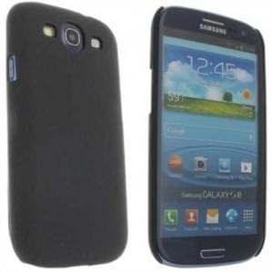 Hard Case / Back Cover f. Samsung Galaxy S3 Neo, S3 LTE, S3 - mit rauer Oberfläche - Schwarz