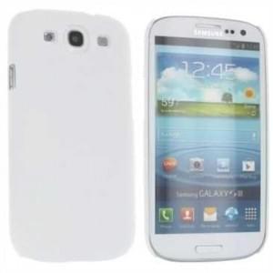 Hard Case / Back Cover für Samsung Galaxy S3 mit rauer Oberfläche Weiß
