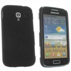 Hard Case / Back Cover für Samsung Galaxy Ace 2 i8160 - mit rauer Oberfläche - Schwarz