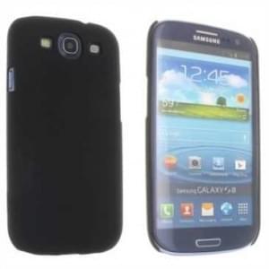 Hard Case / Back Cover für Samsung Galaxy S3 mit gummierter Oberfläche Schwarz