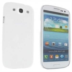 Hard Case / Back Cover für Samsung Galaxy S3 mit gummierter  Oberfläche Weiß