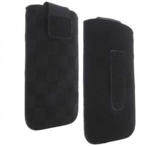 Vertikal / Köcher Tasche - mit Ausziehhilfe und Klettverschluss - 2XL - Style: B Racing - Schwarz