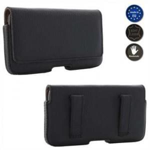 XiRRiX Echt Leder Smartphone Horizontaltasche - Innenmaß: 138,5 x 71 x 9 mm (2XL) - Schwarz / Braun