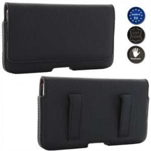 XiRRiX Echt Leder Smartphone Horizontaltasche - Innenmaß: 148 x 76,5 x 9 mm (3XL) - Schwarz/ Braun