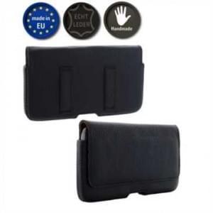 XiRRiX Echt Leder Smartphone Horizontaltasche - Innenmaß: 157 x 83 x 10 mm (4XL) - Schwarz/ Braun