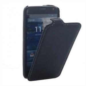 Flip-Style Kunstleder Tasche Vertikal m. Halterung für Motorola Moto X - Schwarz