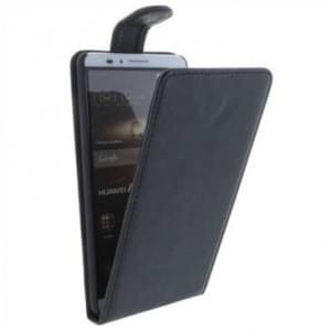 Flip-Style Kunstleder Tasche Vertikal mit Halterung für Huawei Ascend Mate 7 - schwarz