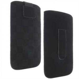 Vertikal / Köcher Tasche - mit Ausziehhilfe und Klettverschluss - 3XL - Style: B Racing - Schwarz