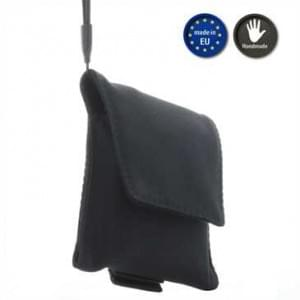 XiRRiX Universal Kamera/ Handy Nylon Vertikaltasche - Innenmaß: 117x66x15 mm - schwarz - Handmade EU