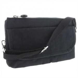 Handtasche m. Reißverschlussfach - Handschlaufe + Schultergurt - Außemaß: 215x130x40mm - Schwarz
