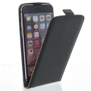 Handytasche Ledertasche PU Leder für Apple iPhone 6, iPhone 6S - Schwarz
