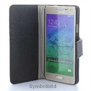 BookStyle Tasche Vertikal mit Halterung für Samsung Galaxy A3 (2016) - schwarz
