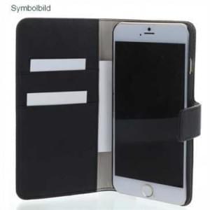 BookStyle Tasche Vertikal mit Halterung f. Sony Xperia Z5 Premium, Z5 Premium Dual - schwarz