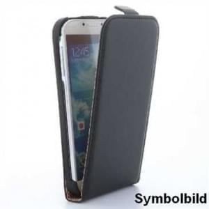 Flip-Style Kunstleder Tasche Vertikal m. Halterung für Samsung Galaxy S7 - Schwarz