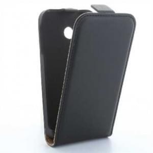 Flip-Style Kunstleder Tasche Vertikal m. Halterung für Huawei G8 - Schwarz