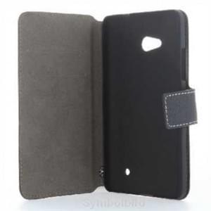 BookStyle Tasche Vertikal mit Halterung für Microsoft Lumia 650 - Schwarz