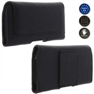 XiRRiX Echt Ledertasche für Smartphone - Horizontaltasche - Innenmaß: 147 x 73,5 x 8 mm (3XL-Slim)