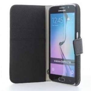 BookStyle Tasche Vertikal mit Halterung für Samsung Galaxy S7 - Schwarz