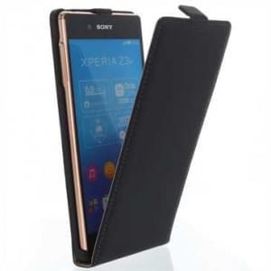 Flip-Style Kunstleder Tasche Vertikal m. Halterung für Samsung Galaxy S7 Edge - Schwarz
